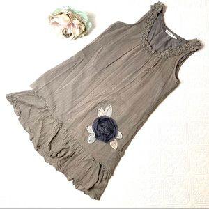 Anthropologie Blue Bird Lagenlook Tunic/dress SZ M